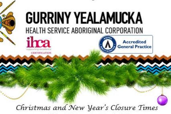 Christmas break opening times for Gurriny