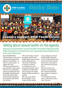 Frontpage of newsletter October 2018