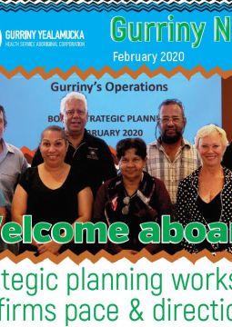 Frontpage of newsletter Gurriny News Feb 2020